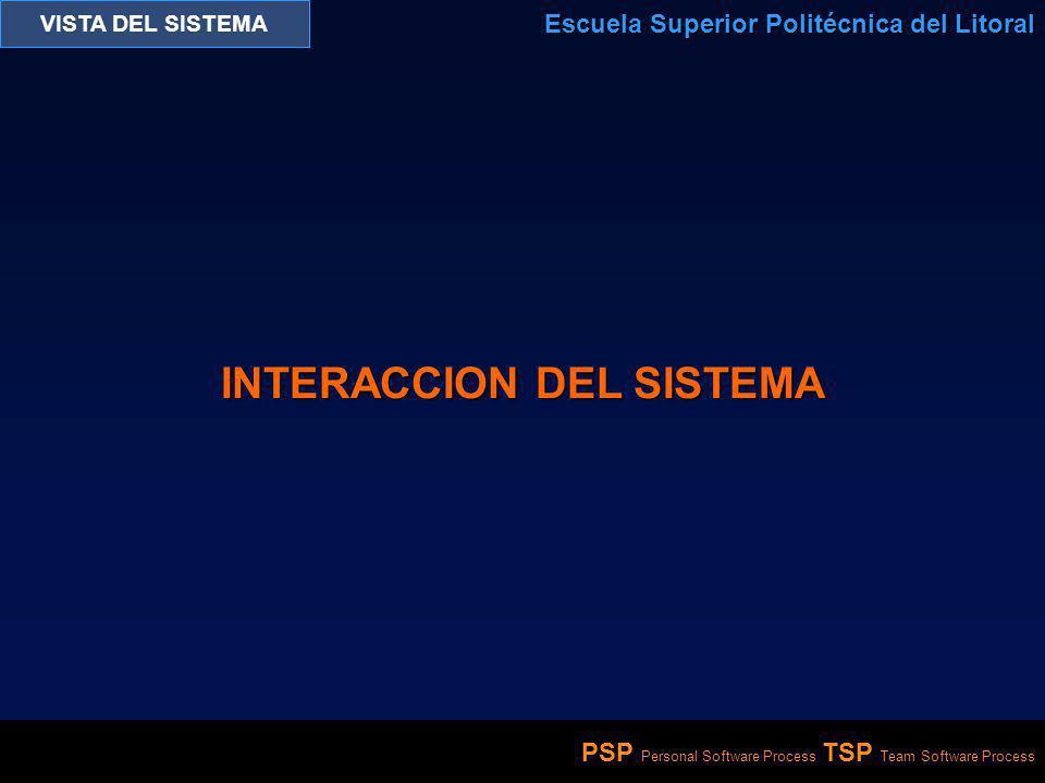 INTERACCION DEL SISTEMA
