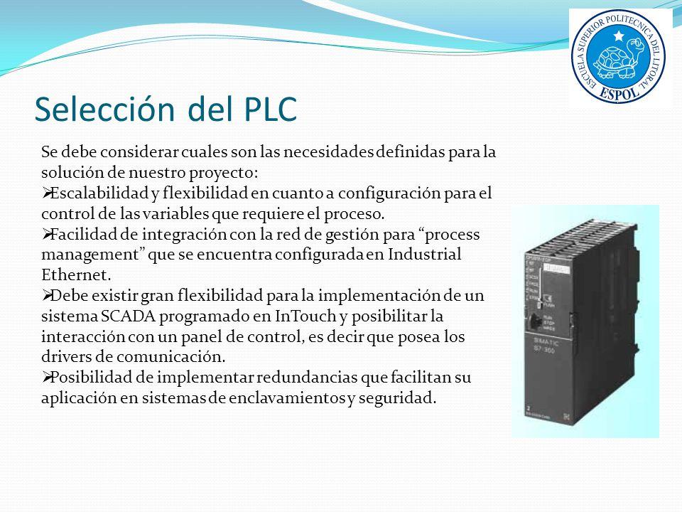 Selección del PLC Se debe considerar cuales son las necesidades definidas para la solución de nuestro proyecto: