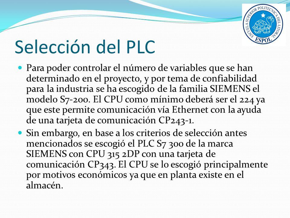 Selección del PLC