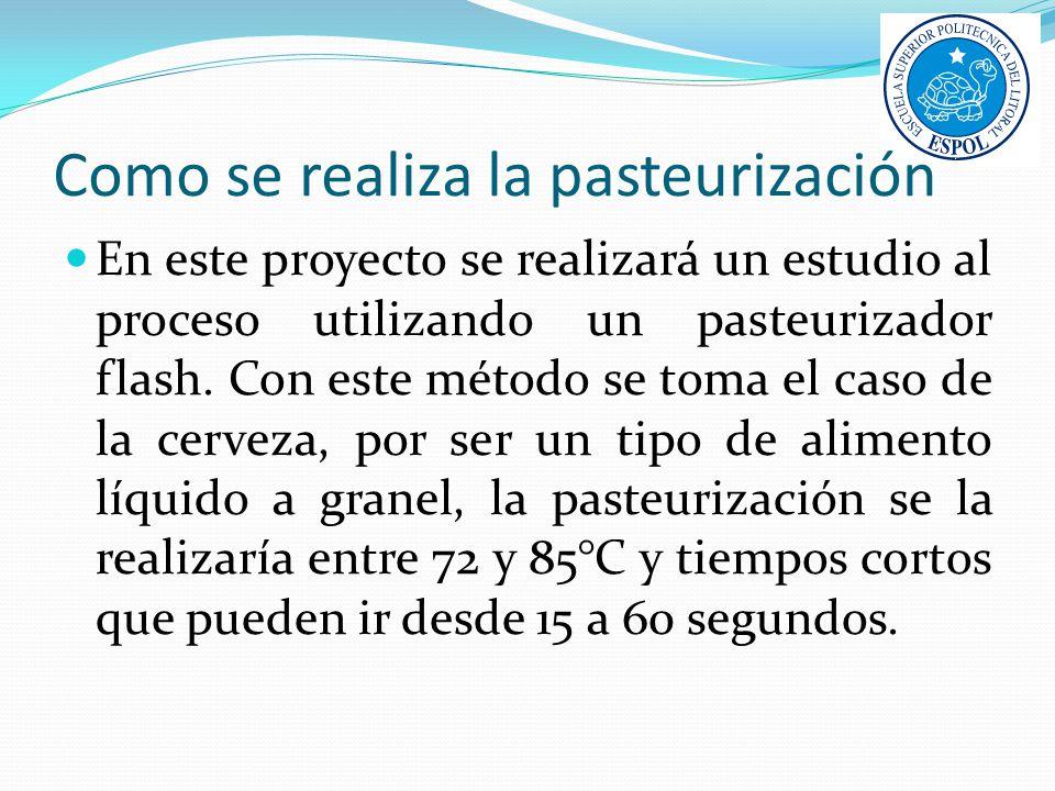 Como se realiza la pasteurización