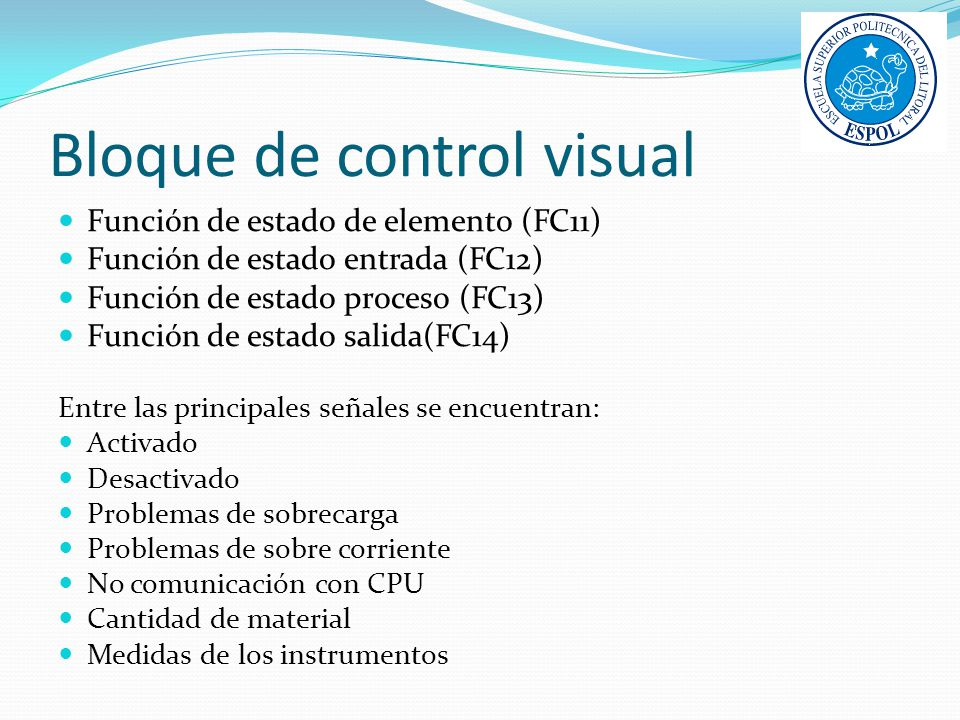 Bloque de control visual