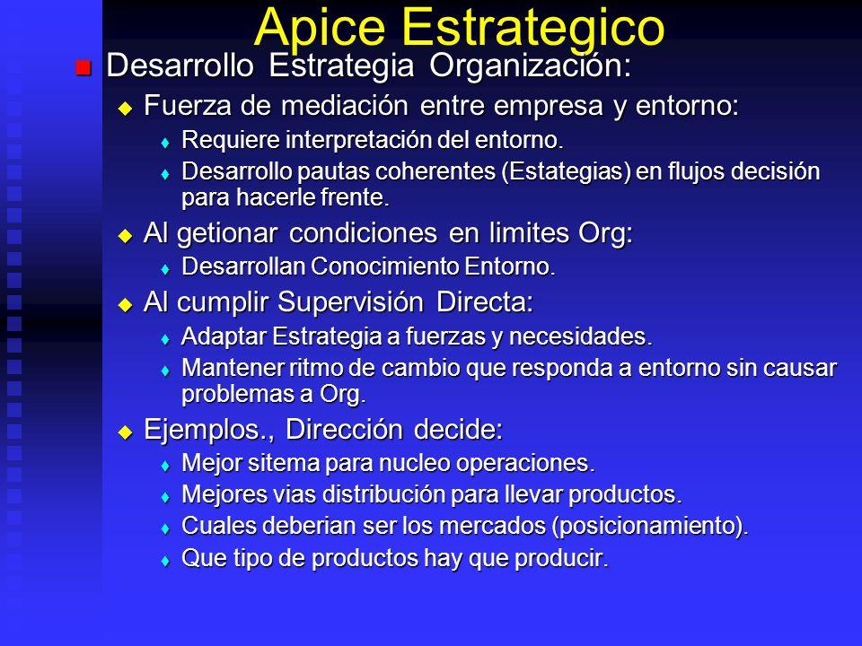 Apice Estrategico Desarrollo Estrategia Organización: