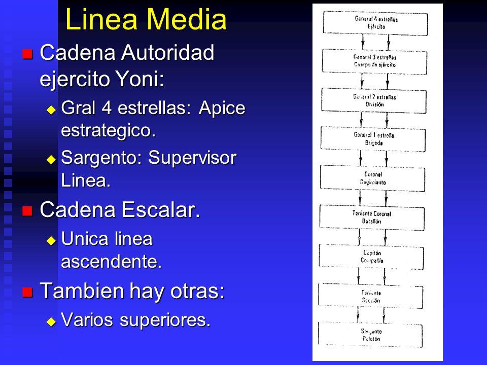 Linea Media Cadena Autoridad ejercito Yoni: Cadena Escalar.