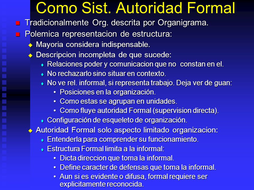 Como Sist. Autoridad Formal