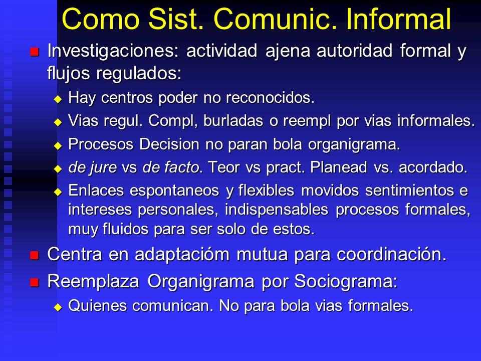Como Sist. Comunic. Informal