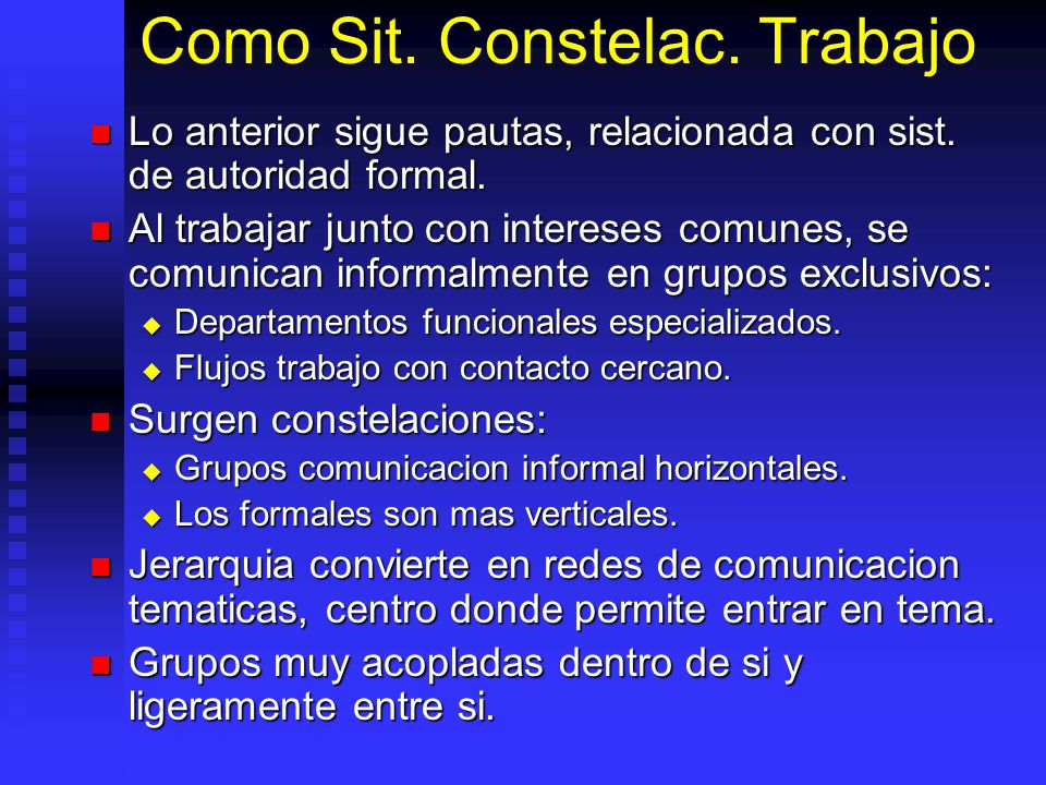 Como Sit. Constelac. Trabajo