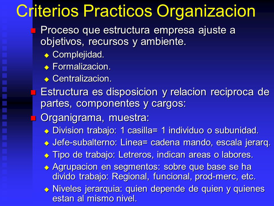 Criterios Practicos Organizacion