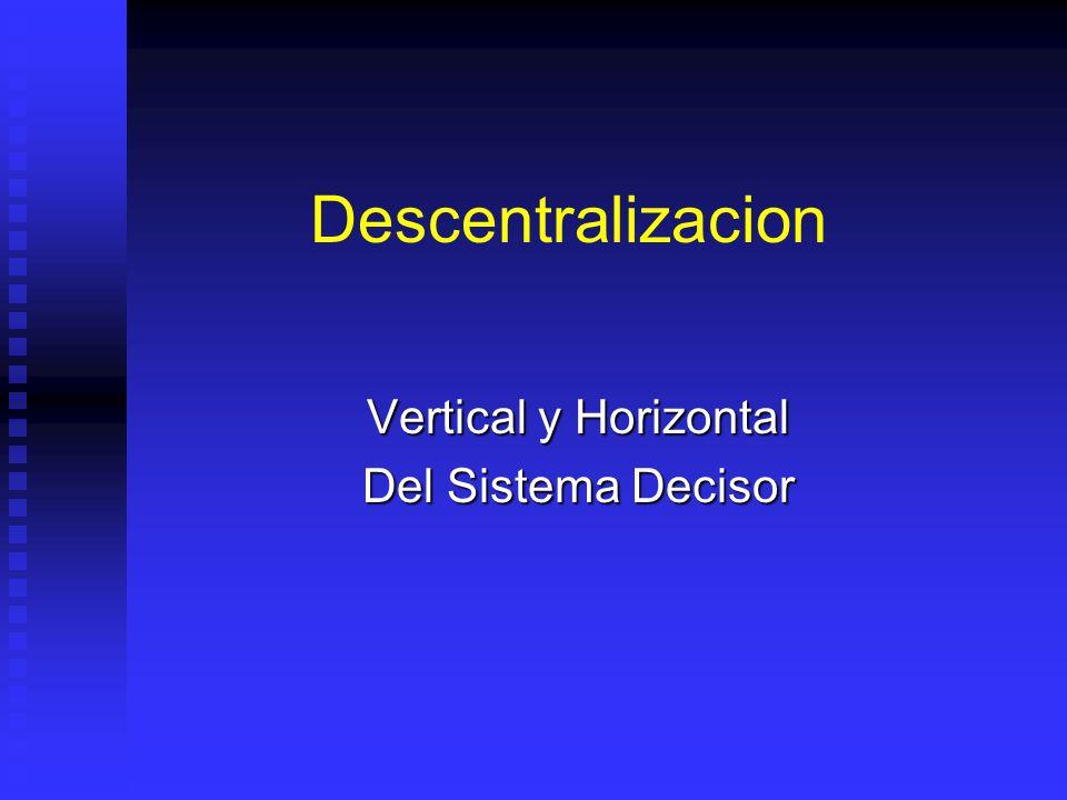 Vertical y Horizontal Del Sistema Decisor