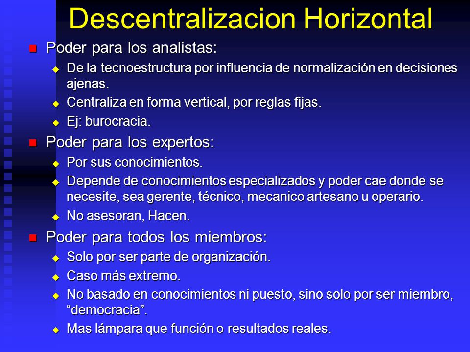 Descentralizacion Horizontal