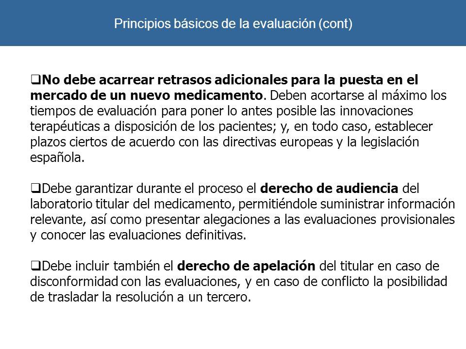 Principios básicos de la evaluación (cont)