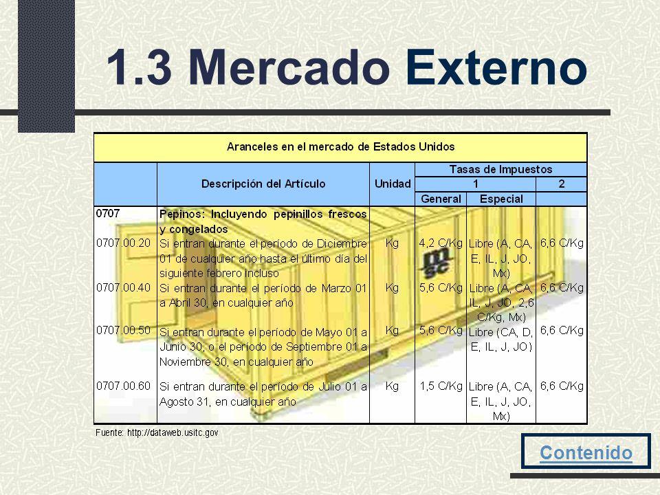 1.3 Mercado Externo Contenido
