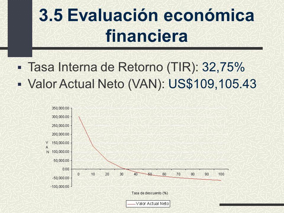 3.5 Evaluación económica financiera