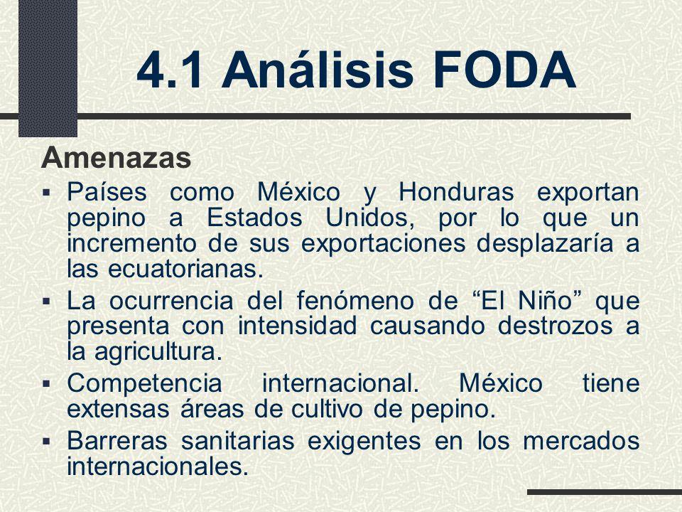 4.1 Análisis FODA Amenazas