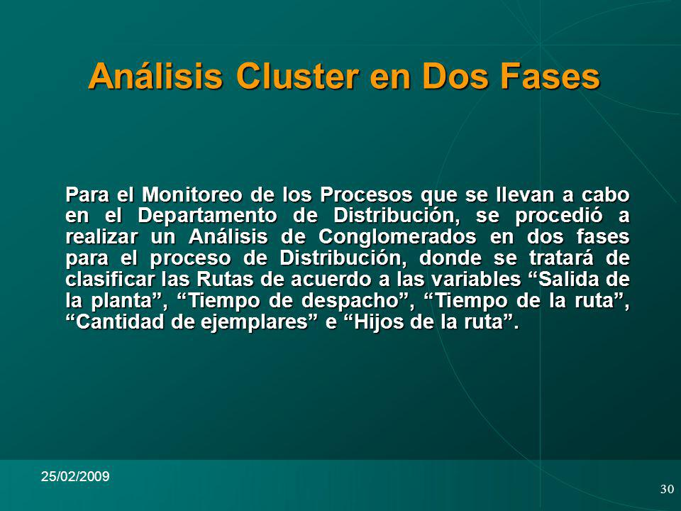 Análisis Cluster en Dos Fases