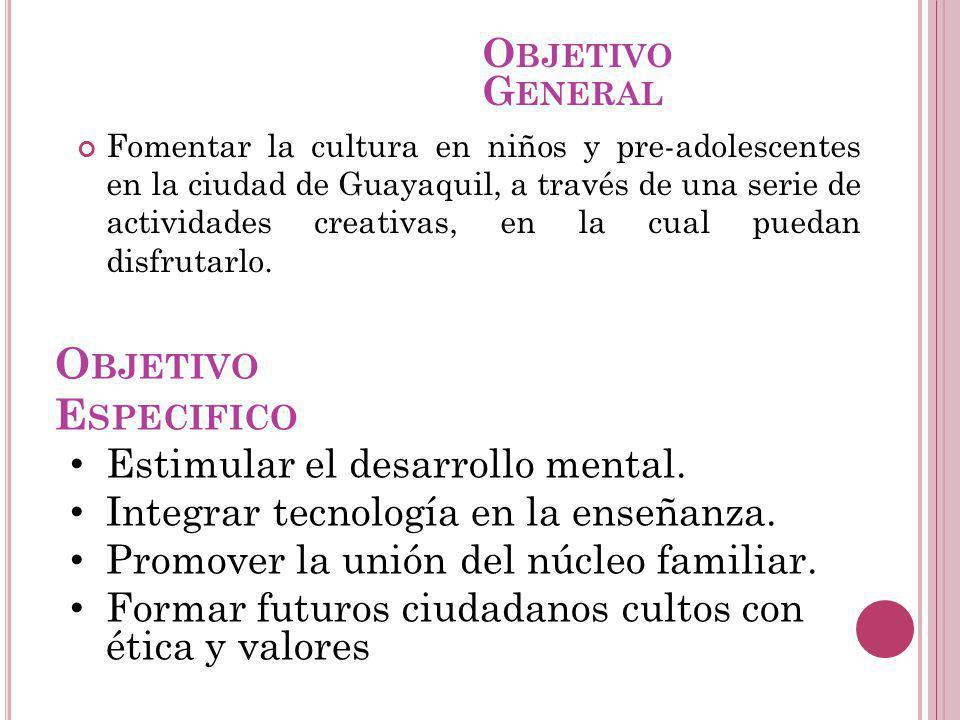 Objetivo Especifico Objetivo General Estimular el desarrollo mental.