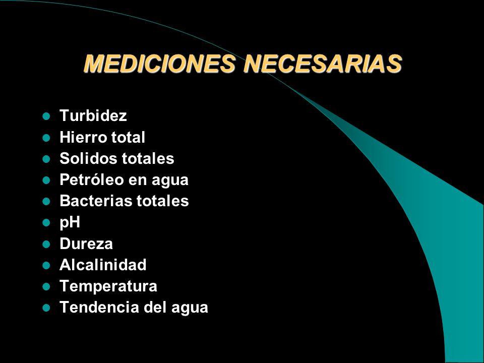 MEDICIONES NECESARIAS