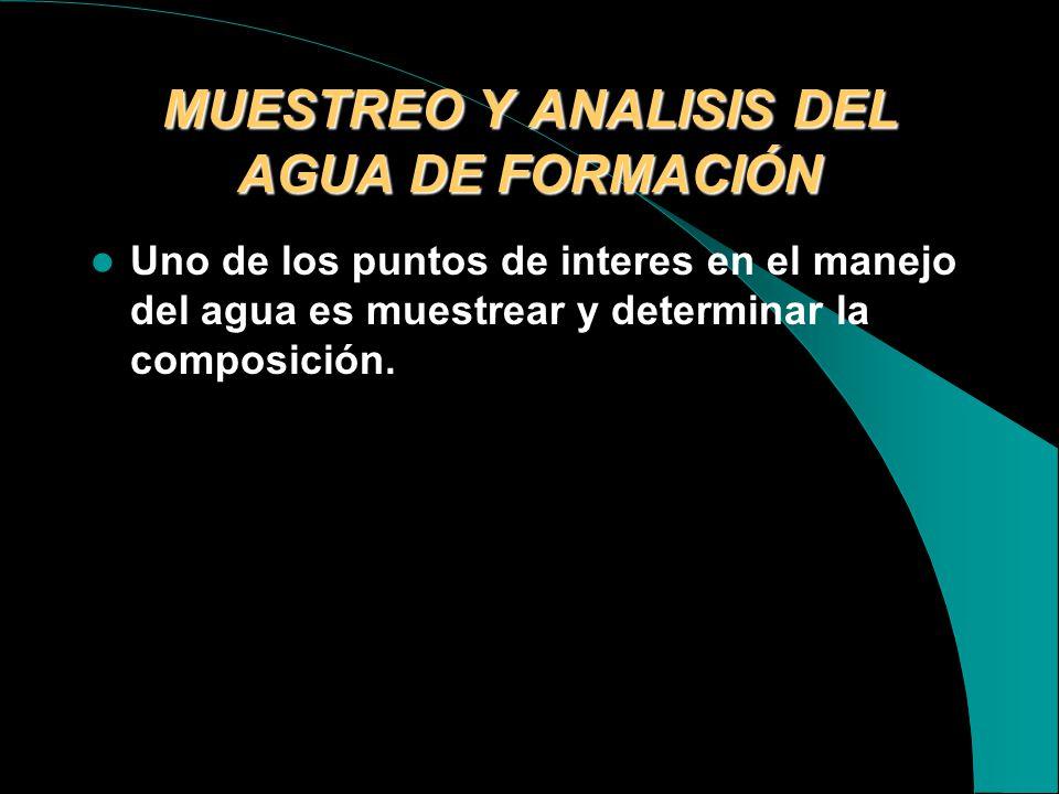MUESTREO Y ANALISIS DEL AGUA DE FORMACIÓN