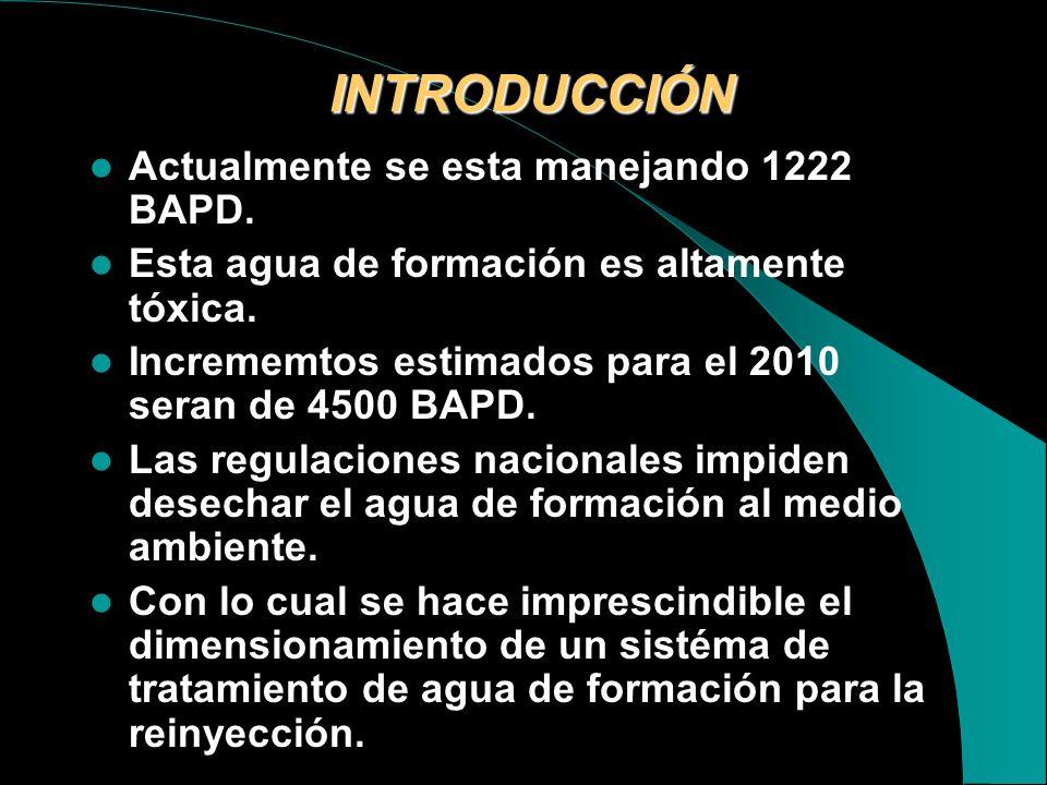 INTRODUCCIÓN Actualmente se esta manejando 1222 BAPD.