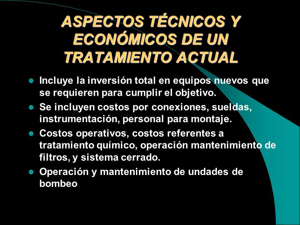 ASPECTOS TÉCNICOS Y ECONÓMICOS DE UN TRATAMIENTO ACTUAL