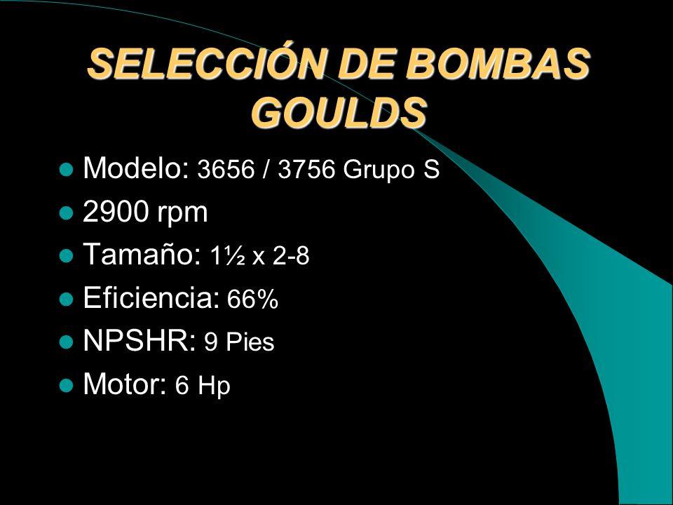 SELECCIÓN DE BOMBAS GOULDS
