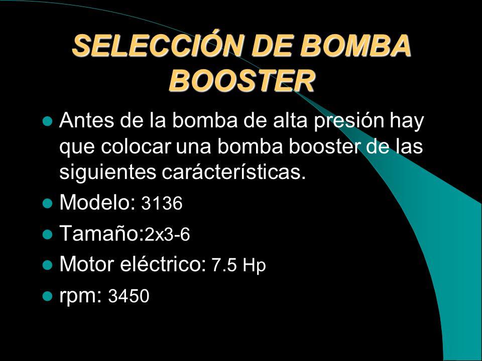 SELECCIÓN DE BOMBA BOOSTER