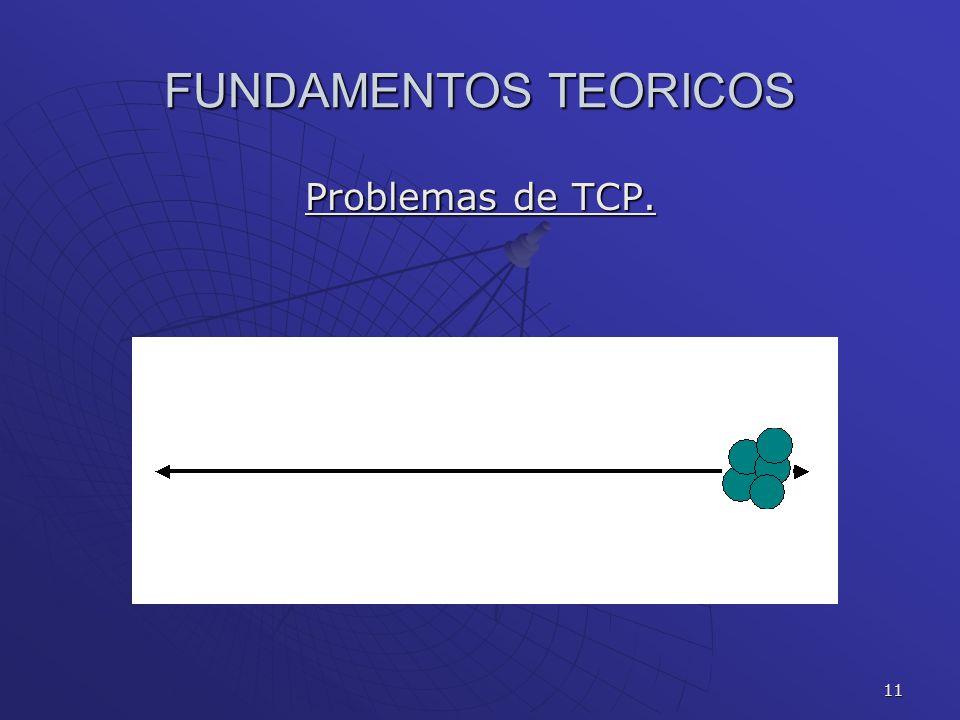 FUNDAMENTOS TEORICOS Problemas de TCP.