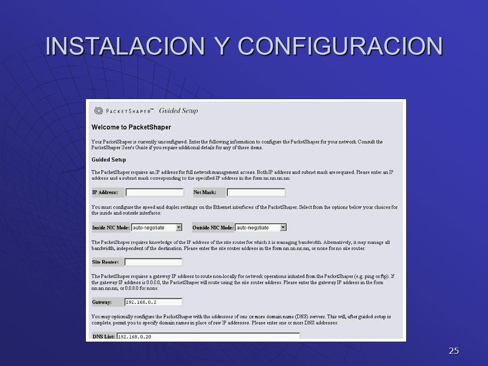 INSTALACION Y CONFIGURACION