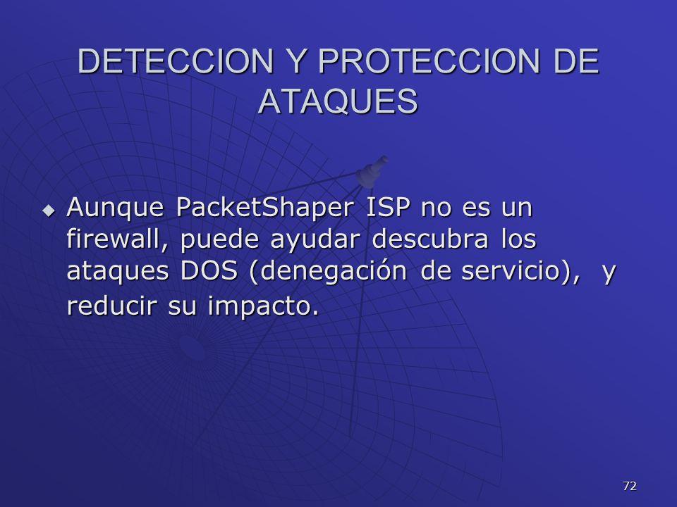 DETECCION Y PROTECCION DE ATAQUES
