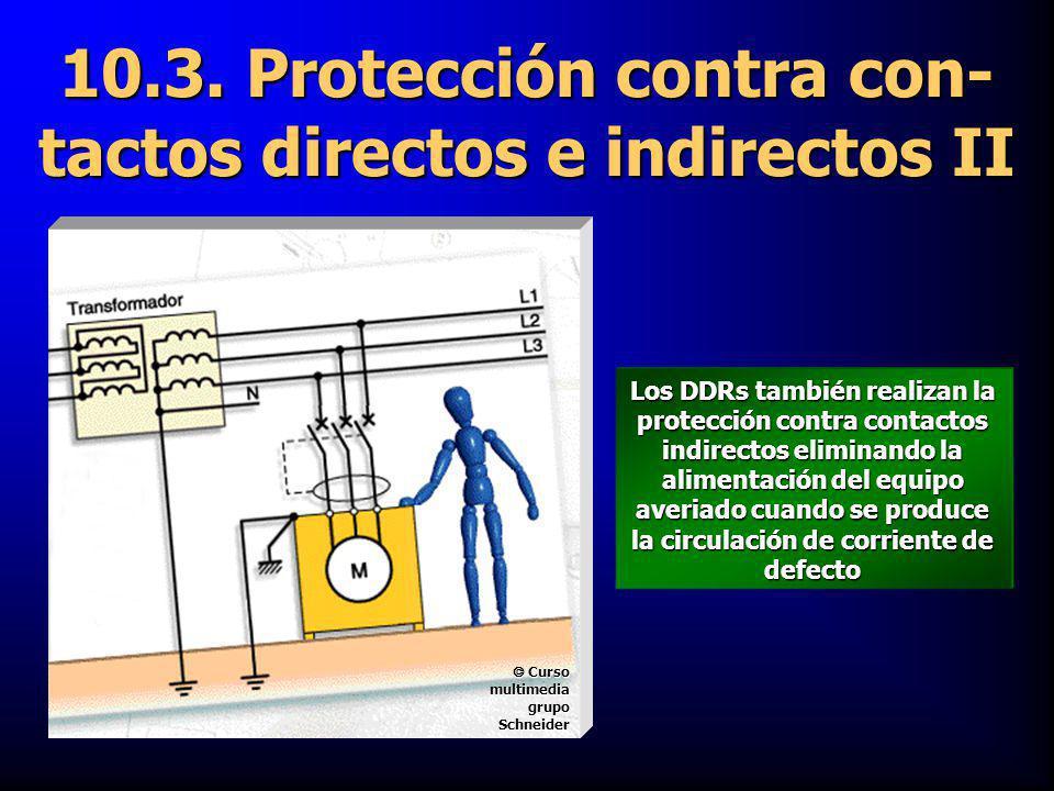 10.3. Protección contra con-tactos directos e indirectos II