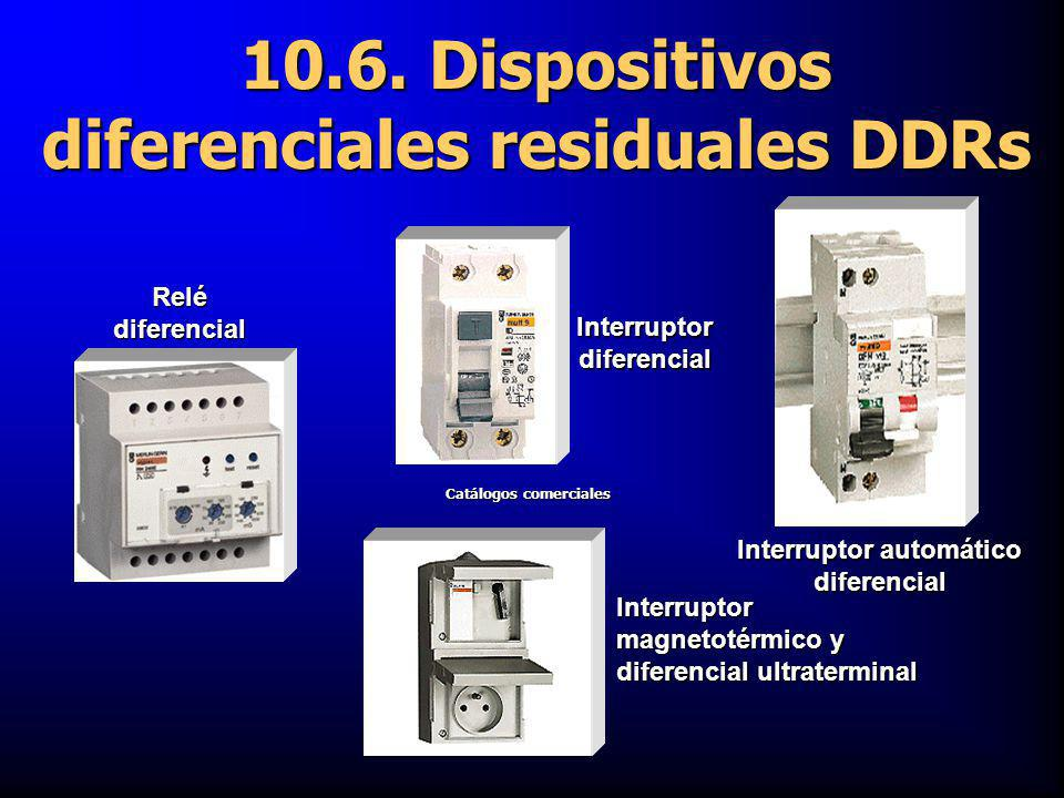 10.6. Dispositivos diferenciales residuales DDRs