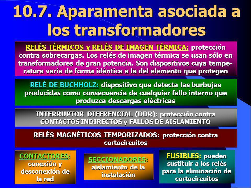 10.7. Aparamenta asociada a los transformadores