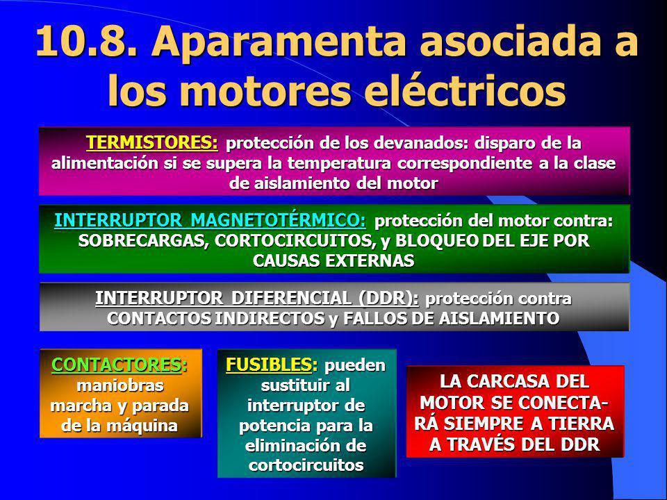 10.8. Aparamenta asociada a los motores eléctricos