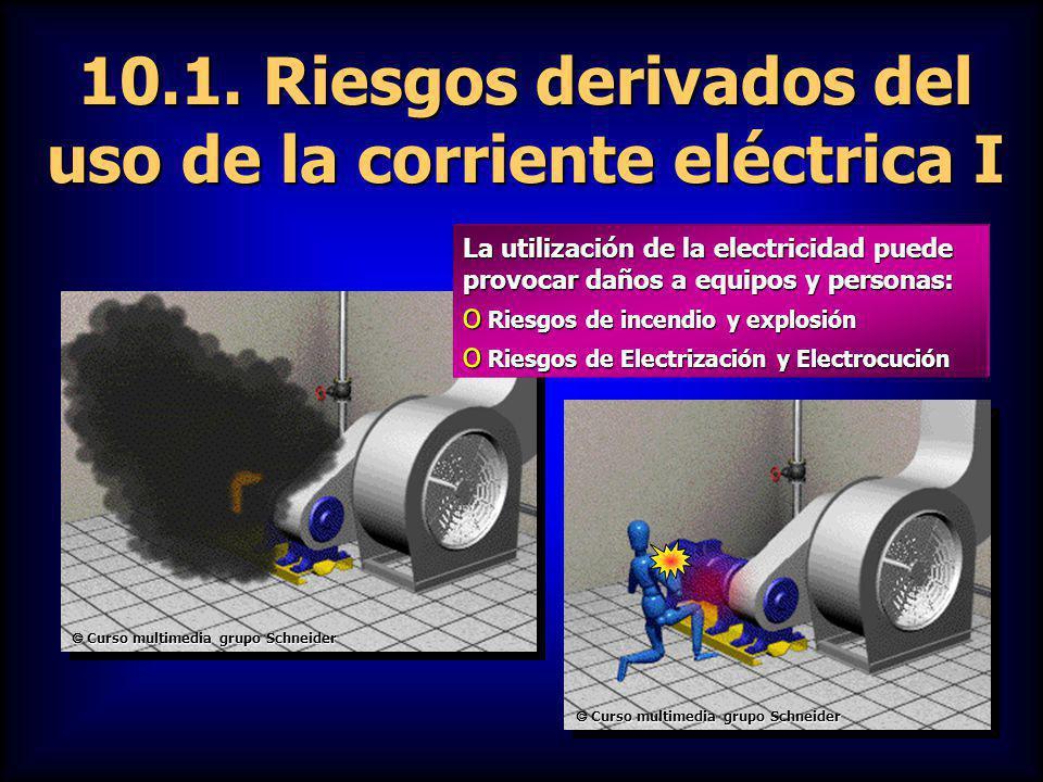 10.1. Riesgos derivados del uso de la corriente eléctrica I
