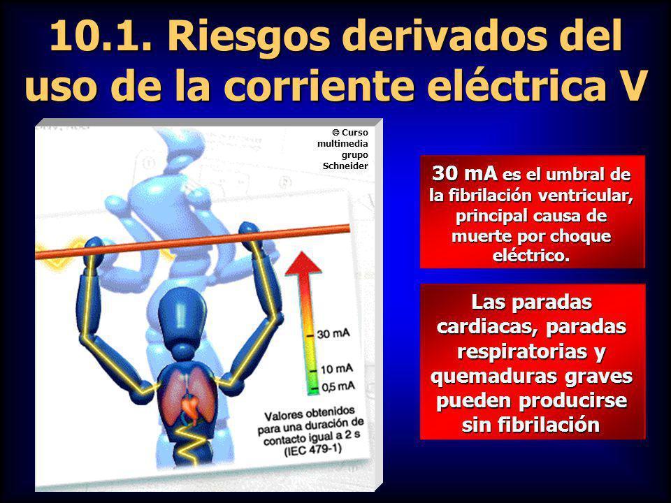 10.1. Riesgos derivados del uso de la corriente eléctrica V