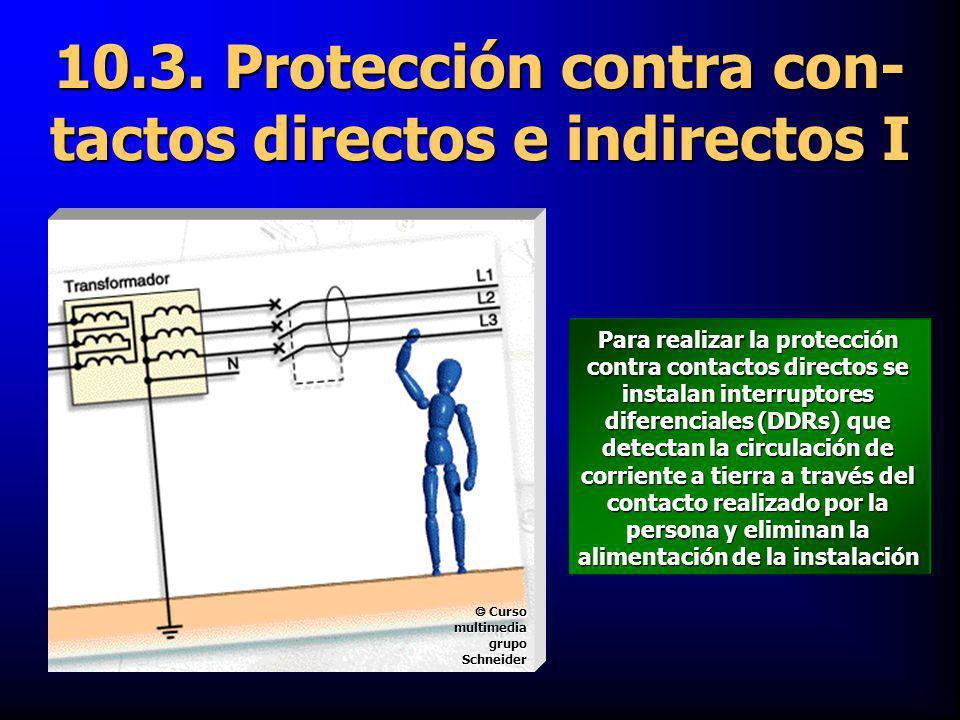 10.3. Protección contra con-tactos directos e indirectos I