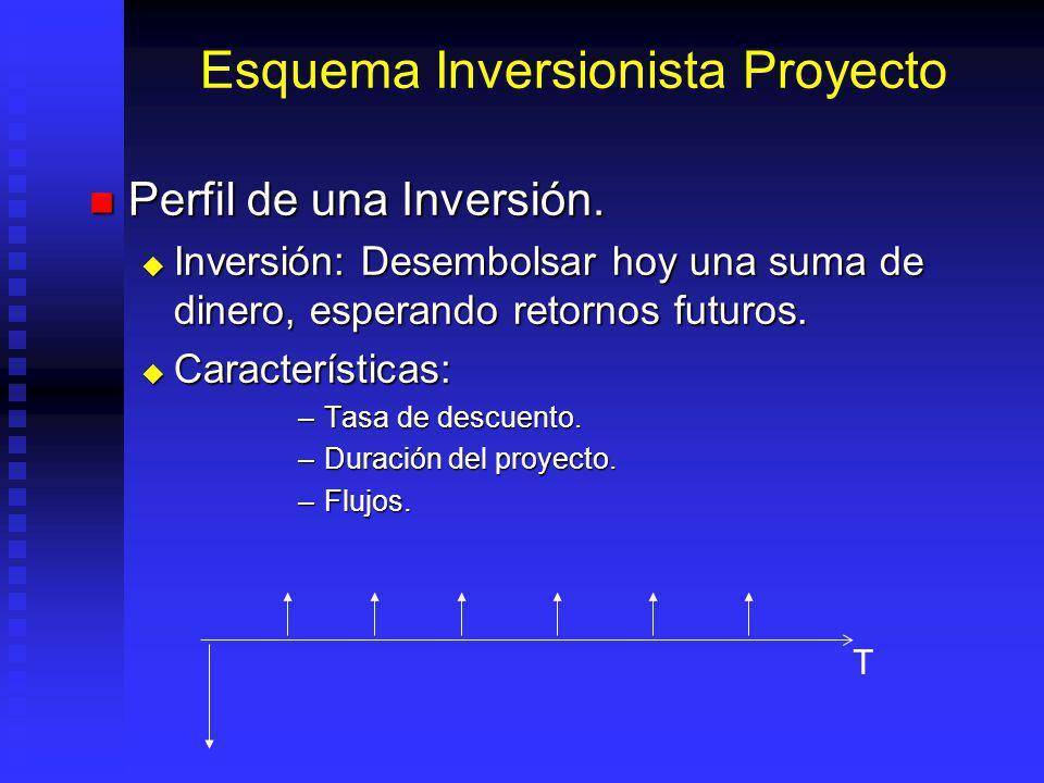 Esquema Inversionista Proyecto