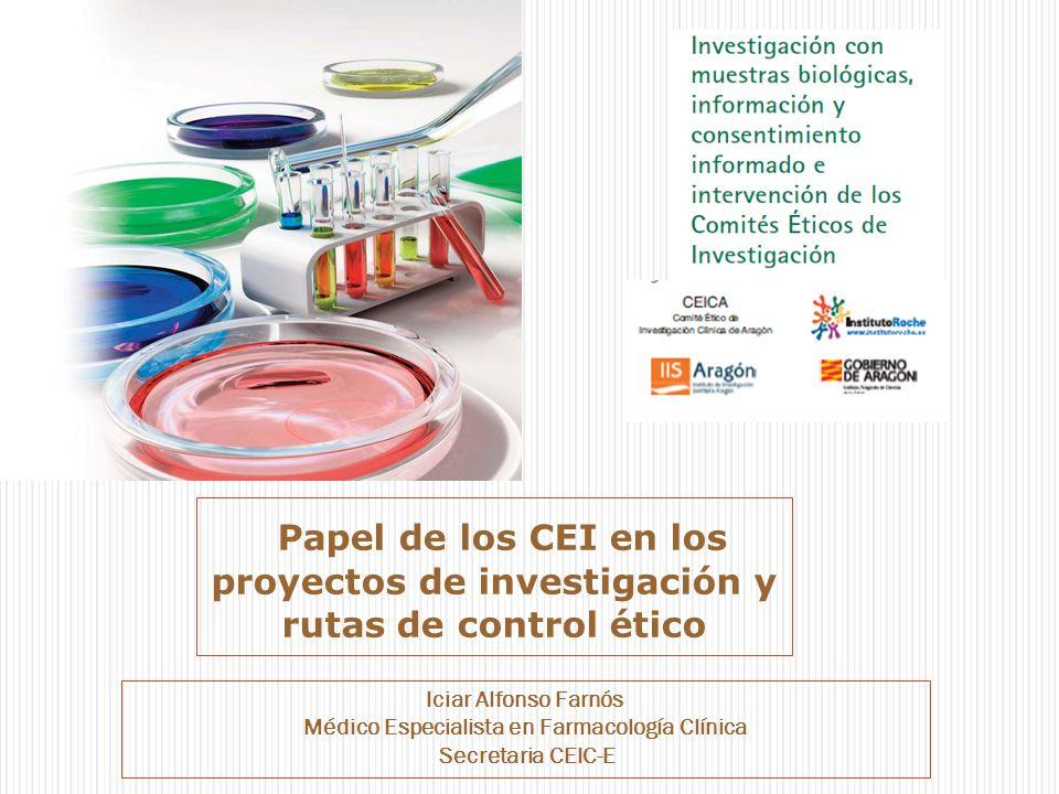 Papel de los CEI en los proyectos de investigación y rutas de control ético