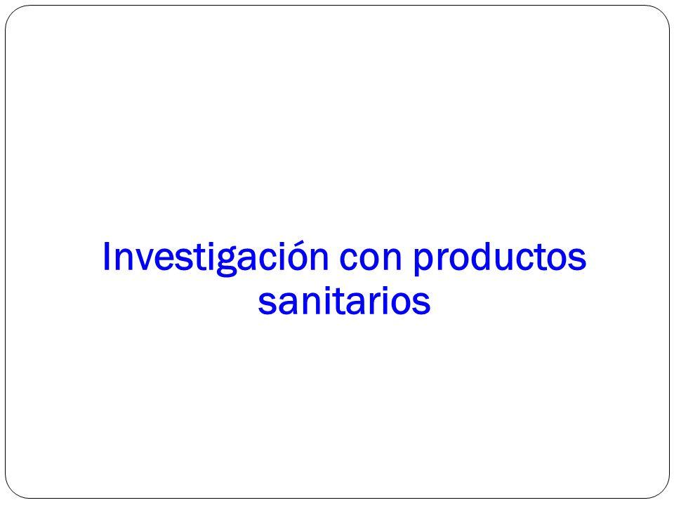 Investigación con productos sanitarios
