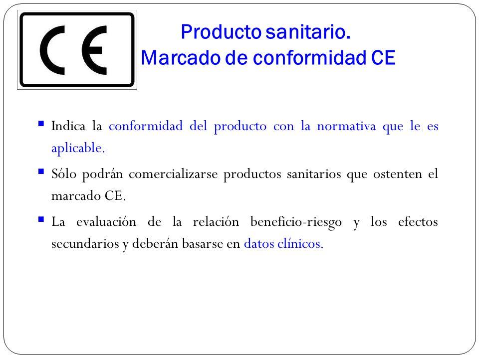 Producto sanitario. Marcado de conformidad CE