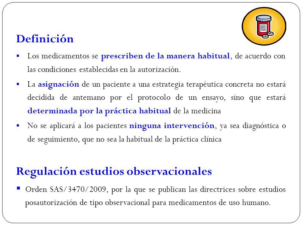 Regulación estudios observacionales