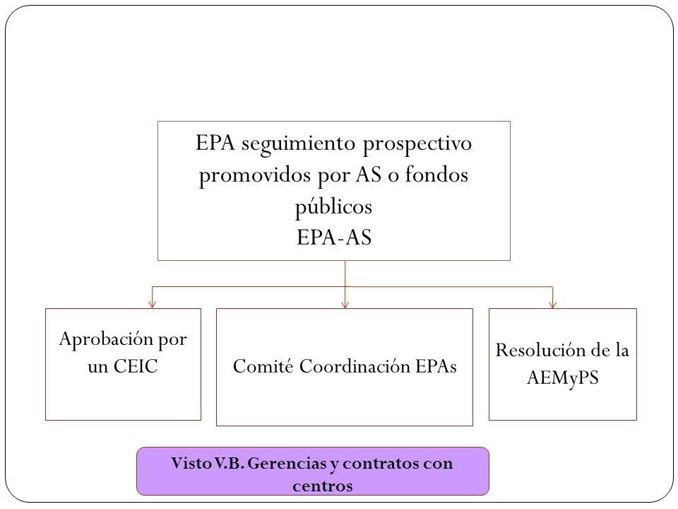 Visto V.B. Gerencias y contratos con centros