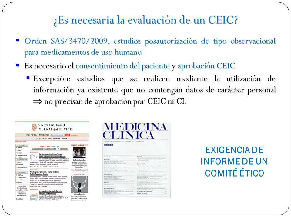 ¿Es necesaria la evaluación de un CEIC
