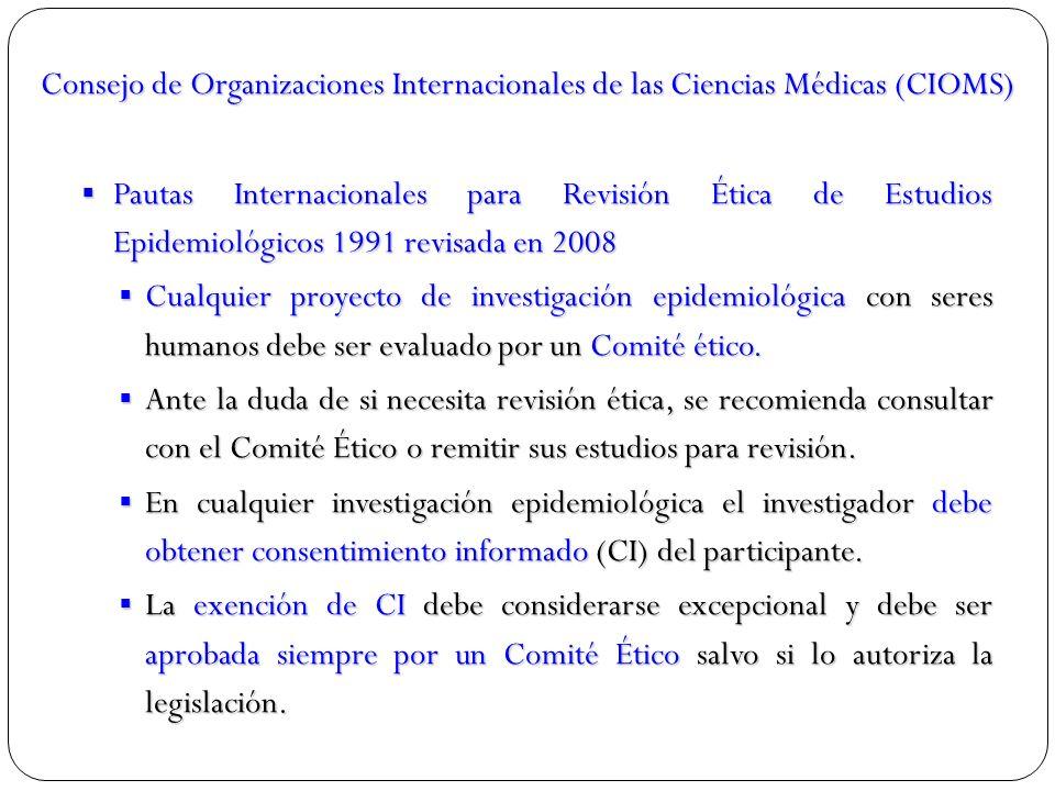 Consejo de Organizaciones Internacionales de las Ciencias Médicas (CIOMS)