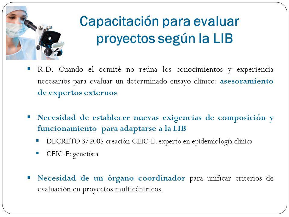 Capacitación para evaluar proyectos según la LIB