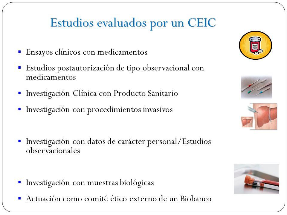 Estudios evaluados por un CEIC