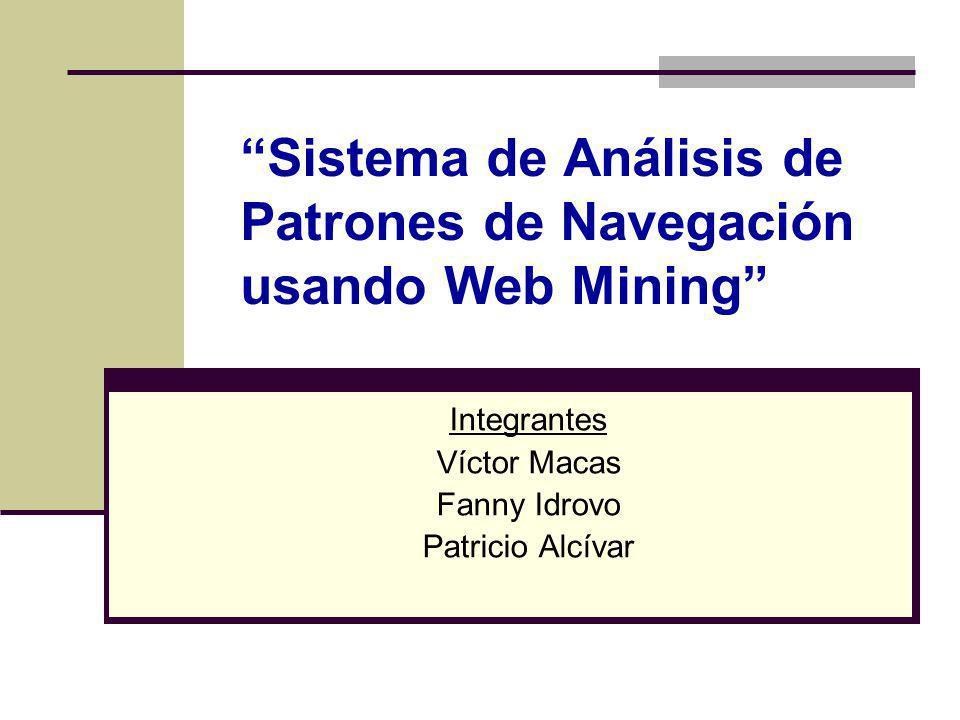 Sistema de Análisis de Patrones de Navegación usando Web Mining