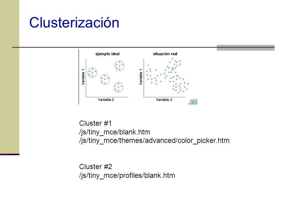 Clusterización Cluster #1 /js/tiny_mce/blank.htm