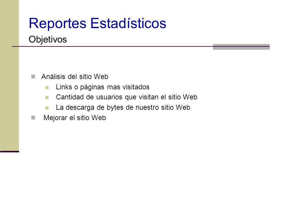 Reportes Estadísticos