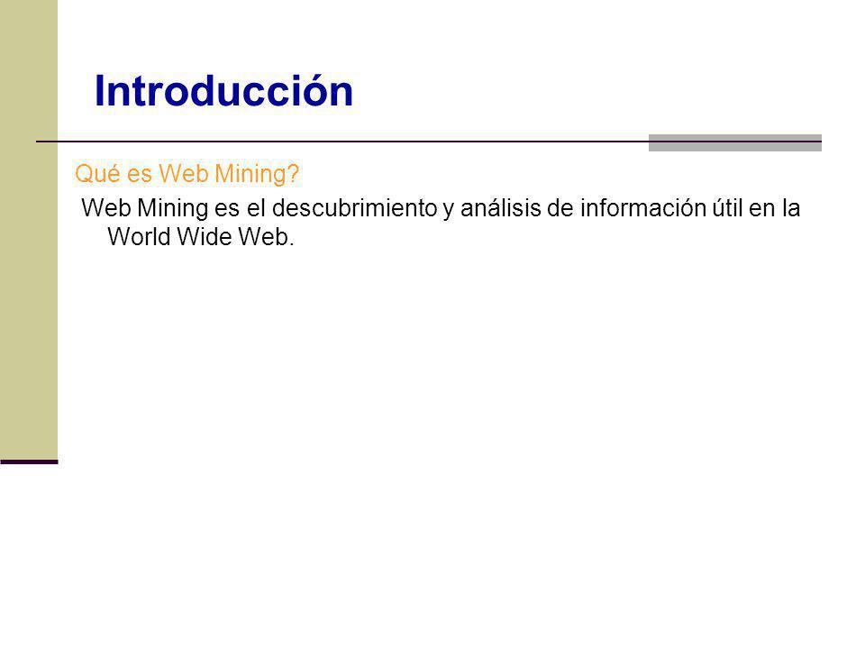 Introducción Qué es Web Mining