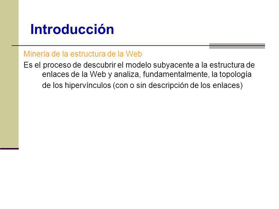 Introducción Minería de la estructura de la Web